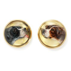 antique cufflinks | Crystal Hunting Dog Antique Tiffany Cufflinks | - FABERGE, Antique ...
