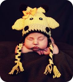 Crochet Giraffe Hat Photo Prop. $26.00, via Etsy.