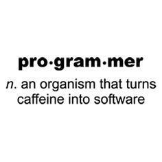 Funny Computer Programmer Caffeine Software Joke Picture