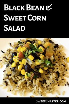 Black Bean & Sweet Corn Salad is the perfect side dish dip main course addition to any taco fajitas quesadilla or enchiladas. Its festive colorful zesty and tangy. Make it today! Fajita Sides, Fajita Side Dishes, Side Dish For Tacos, Appetizer Recipes, Salad Recipes, Healthy Recipes, Sweet Recipes, Beans Recipes, Healthy Meals