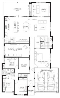 Exceptional Quality and Home Designs. Choose from our range of house designs or ask us to custom design for you. Plunkett Homes House Plans And More, New House Plans, Dream House Plans, House Floor Plans, House Layout Plans, House Layouts, Floor Plan 4 Bedroom, House Ideas, Home Design Floor Plans