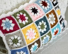 Beautiful.with link to tutorial for Daisy Squares