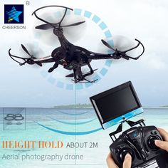 Cheerson Quadcopter CX-32C Drone With 2MP camera 2.4GHz 4CH 6-Axis gyro Helicopter with LED light Hight Hold aircraft RC toys. Yesterday's price: US $132.59 (108.63 EUR). Today's price: US $57.01 (46.58 EUR). Discount: 57%.