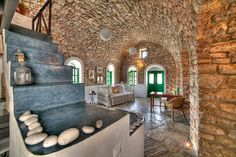 Interior of traditional house in Kythira island, Greece..  wow..