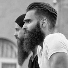 Image may contain: 2 people, beard and closeup