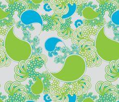 FOR BRIGADIER VELVET Island Paisley fabric by joanmclemore on Spoonflower - custom fabric