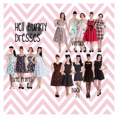 """""""Hell Bunny Dresses"""" by bluebanana on Polyvore featuring Hell Bunny"""