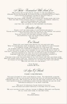 sample wedding program thank you | Jewish Wedding Program ...