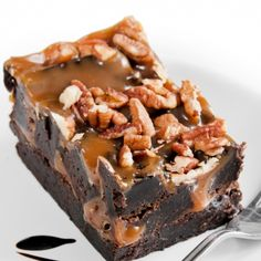 A Sweet and yummy recipe for turtle fudge. This is a great treat to bring to any party.