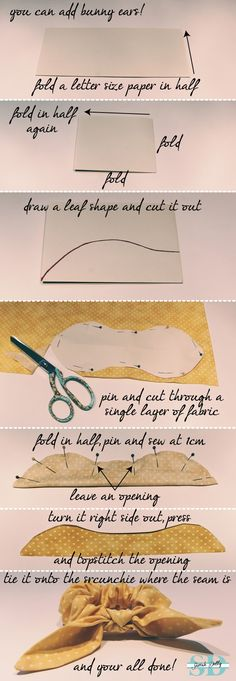 how to make a shower scrunchie