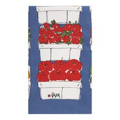 Vera Neumann prints now available as dish towels at Crate and Barrel