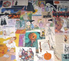 Vintage Halloween Ephemera Pack for Altered Art Lot G on Etsy, $7.95