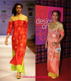 Shweta Salve and Priyanka Bose in Swati Vijaivargie at Design One | Fashion Mate
