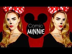 Pop-Art Minnie Mouse Makeup - YouTube. So cute !