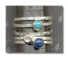 Mother of Pearl Turquoise Lapis and Fine Silver by purplemoongifts, $89.95 - kids' birthmonths