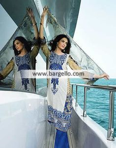 WL7961 Gorgeous Embroidered Lawn Suits HSY Lawn Collection March 2015 - UK USA Canada Australia Saudi Arabia Bahrain Kuwait Norway Sweden New Zealand Austria Switzerland Germany Denmark France Ireland Mauritius and Netherlands