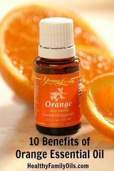 10 Benefits of Orange Essential Oil healthyfamilymatters.com #essentialoils #healthyfamilyoils