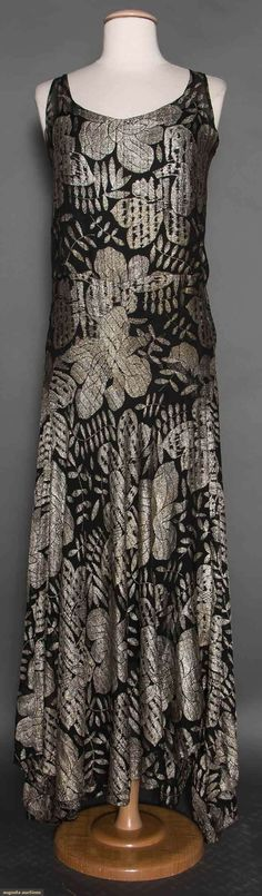 Silver Lame Evening Gown, early 1930s.
