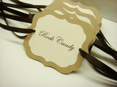 Candy Buffet Hanging Tag Signs Prepared with your by wedology, $2.00