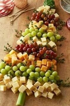 I think this is the perfect (healthier) idea you can lay out. Yes I know you may think CHEESE is not too healthy but in moderation.. yes! Add some whole wheat malba toast rounds or a few veggies options to your cheese tree.