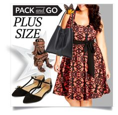 """""""Pack and Go, Plus Size"""" by captainsilly ❤ liked on Polyvore featuring City Chic, NOVICA and Accessorize"""
