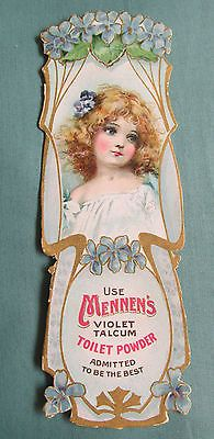 Mennen's Violet TalciumToilet Powder Vintage Bookmark
