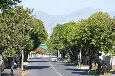 Fagan Street eastward looking scene in Strand North suburb of Strand. Hottentots-Holland mountain on the horison. Fagan Street is one of the more sought after addresses in the Strand - due to its close proximity (about 200 metres) to the beach. #strand #strandnorth #faganstreet