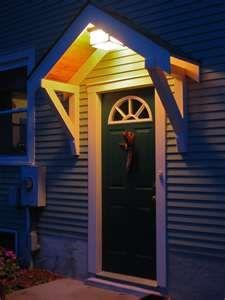 Bungalow Restoration: Side door overhang