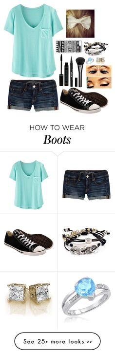 """Jade blue"" by phumphf14 on Polyvore featuring Wrap, American Eagle Outfitters, Converse, Stila, Gucci, Robert Lee Morris and CellPowerCases"