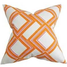 Jersey Orange 18 X 18 Geometric Throw Pillow The Pillow Collection Accent Pillows Throw Pi