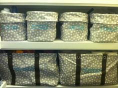 Closet Organization Thanks to Thirty One  this is what I am talking about!!  NEED!