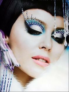 Futuristic. makeup artist Kabuki