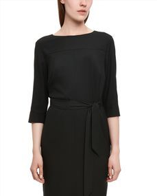 Jaeger Cocoon pleated back dress