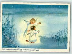 Nr. 329 Verlag Henke - Weihnachten - Engel AK                              …