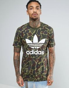 e9045acd41ec9 adidas Originals Trefoil Logo T-Shirt In Camo Klick to see the Price
