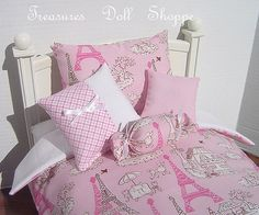 AMERICAN GIRL Doll Bedding 5 Pc Set for 18 by TreasuresDollShoppe