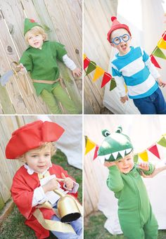 AMAZING Peter Pan Party Great idea for Crocodile costume...green footie PJs and make a crocodile hat!
