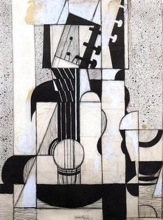 size: Stretched Canvas Print: Still Life with Guitar Canvas Art by Juan Gris : Using advanced technology, we print the image directly onto canvas, stretch it onto support bars, and finish it with hand-painted edges and a protective coating. Painting Edges, Painting Prints, Art Prints, Painting Portraits, Painting Frames, Picasso, Musik Illustration, Collage Kunst, Cubism Art