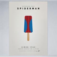 Chungkong - Superhero Ice Pop Spiderman - Print