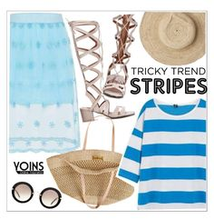 """""""Marine Layer: Striped Shirts"""" by teoecar ❤ liked on Polyvore featuring Oysho, Flora Bella, Miu Miu and stripedshirt"""