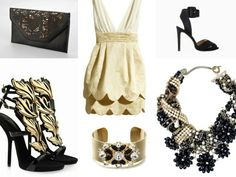 Outifit#party#black&gold