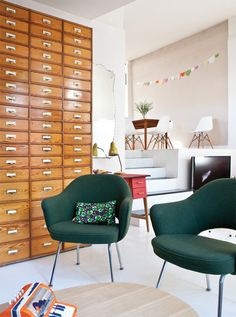 in LOVE. the chairs and the file cabinet are perfection.