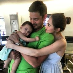 Baby jc, Dingdong dantes and Marian Rivera