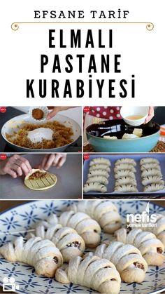 Sweet Cookies, Yummy Cookies, East Dessert Recipes, Desserts, Delicious Cookie Recipes, Yummy Food, Apple Pie Cookie Recipe, Mini Cheesecakes, Turkish Recipes