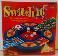 SWITCH 16 BOARD GAME - BY TOMY - CHILDRENS CARD AND DICE GAME - GREAT FAMILY GAME - NEW AND SEALED