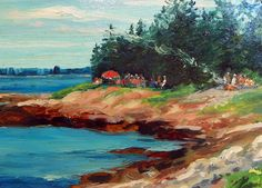 July 20, 2012 Eight New Paintings For You To See!   Plein Aire in Maine