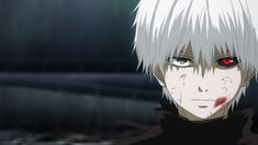 This starts his tragic story of Kaneki being a half human and half ghoul.