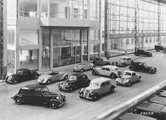 The Citroën model range, 1950...
