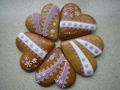 Autor: jana81 Honey Cookies, Tea Cookies, Biscuit Cookies, Frosted Cookies, Decorated Cookies, Valentines Day Cookies, Holiday Cookies, Gingerbread Decorations, Gingerbread Houses