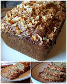 Healthy Coconut Banana Bread. I love the ingredients in this recipe! I used apple cider instead of OJ and 2 whole eggs instead of 3 whites. Moist and delicious!!